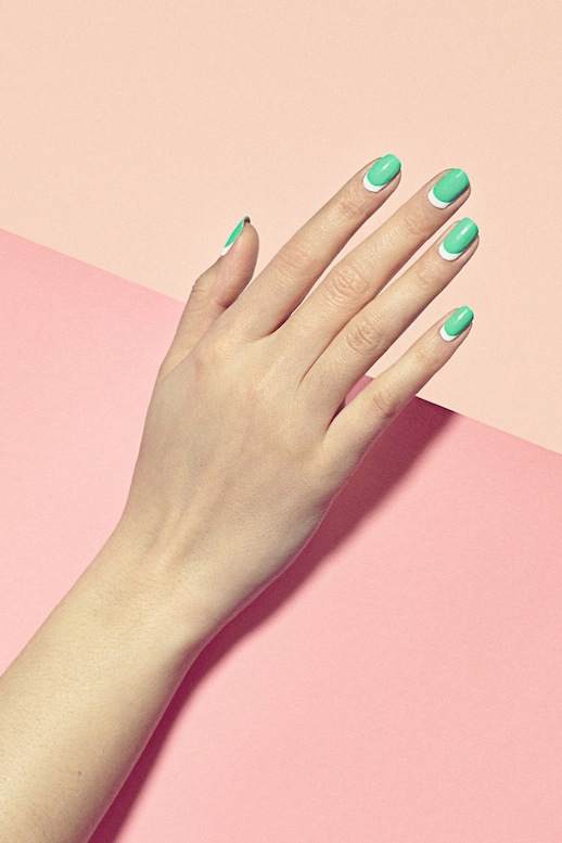 Le-Fashion-Blog-3-Manicures-To-Try-Now-Green-White-Moon-Nails-Via-Harpers-Bazaar